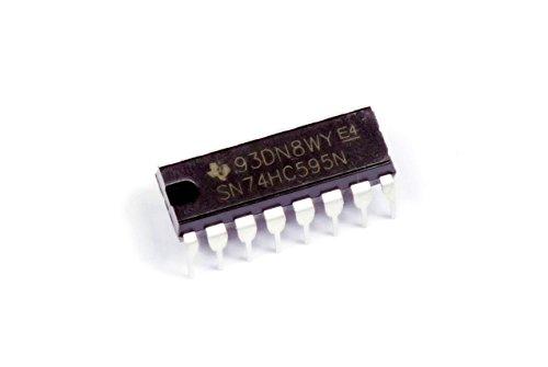MissBirdler 5Stück IC 74HC595 74595 SN74HC595N SN74HC595 8-Bit Shift Register für Arduino Raspberry Pi