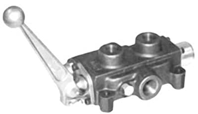 """CROSS Manufacturing 103980 SCV Series Cast Iron Single Spool Monoblock Hydraulic Directional Control Valve, 3/4"""" x 3/4"""" x 1/2"""" NPT Female, 2000 psi, Grey from CROSS Manufacturing"""