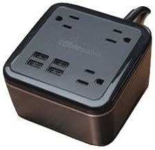 Brandstand   CubieSoho   4 USB Ports   3 Tamper Resistant Sockets   Safety Tested- Meets UL/CE Standards
