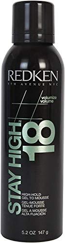 REDKEN | Stay High 18 | High Hold Gel-Mousse | Provides Long-Lasting Volume & Body | 150 ml