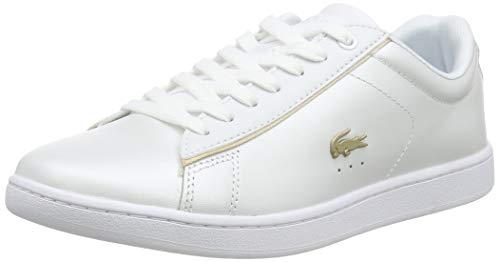 Lacoste Damen Carnaby EVO 118 6 SPW Sneaker, Weiß (White/Gold), 38 EU