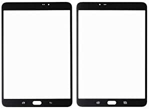 Outer Front Screen Glass Lens Replacement for Samsung Galaxy Tab S2 8.0 SM T710 t713 T715 (NO digitizer and LCD) (Black)