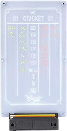 Viper Illumiscore Light Up Dartboard Scoreboard, Cricket and 01 Dart Games