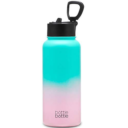 1リットル 水筒 1L 子供 直飲み 保温保冷 真空断熱 ボトル ステンレス ウォーターボトル 持ち運び ピンク BOTTLE BOTTLE