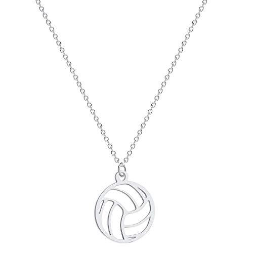Kleiner kreis runde volleyball anhänger halskette für frauen männer schmuck sport charme volleyball sport fan geschenke