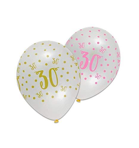 Ballonnen - Pink chic - 30 Jaar - 6st.