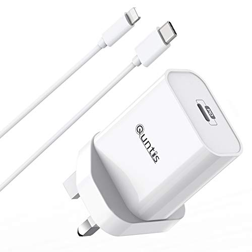 Quntis 30W iPhone iPad Fast Charger USB C Charger With 2m C to Lightning Cable Apple MFi Certified QC&PD 3.0 Charger for iPhone SE 2020/11/11 Pro/XR/XS/X, iPad Pro Air Mini