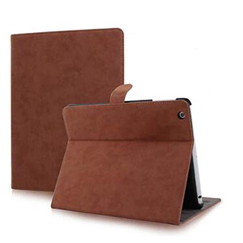 Wangqianli For Ipad 2/3/4 Protective Cover Fashion Simple Retro Leather Anti-drop Protective Case Protection Cover (Color : Dark brown)