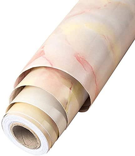 CAETNY Adesivo, filme de vinil Adesivo de mármore autoadesivo Móveis impermeáveis removíveis Decoração de cozinha Adesivo de Papel de contato (Cor: B, Tamanho: 0,65 m)