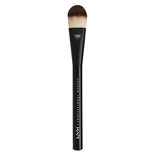 NYX Professional Makeup Pro Brush Flat Foundation 07 - Make-up Pinsel für flüssige und cremige Foundations, angeschrägte Bürste