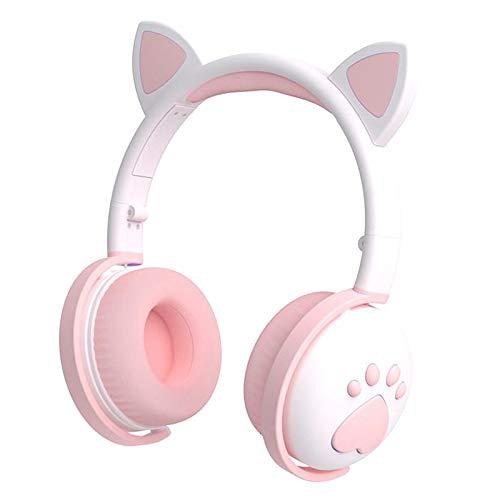 #N/A Gaming BT Headset mit Mic für PS4, Xbox One, PC, Handy, 3,5 MM Sound Katze Ohr Kopfhörer Leichte Über...