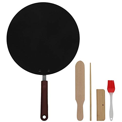 Braadpannenkoek Flat Pan, 30CM Mini Portable Household Non-stick Skillet Kitchen Cooker Insulated Handle Pot Steamer Non-Stick Pan for Home Coffee Shop Restaurant