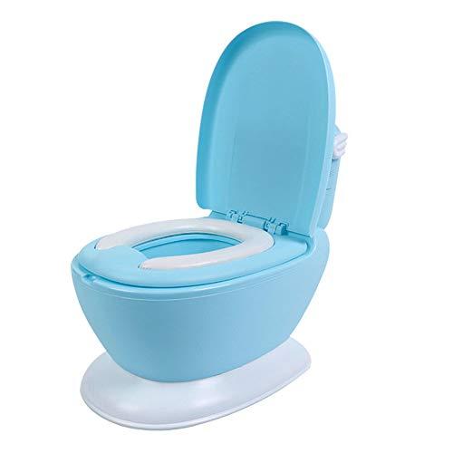 Z-SEAT Train De Pot Et Transition, Simulation Potty Training Toilet, Siège De Pot pour Garçons Et Filles avec Coussin Doux, Facile À Nettoyer,Bleu