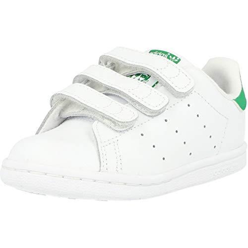 adidas Stan Smith CF I, Scarpe da Fitness Unisex-Bambini, Bianco (Ftwbla/Verde 000), 26 EU