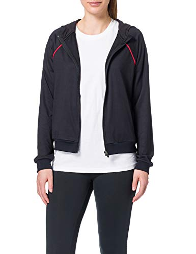 Activewear Sudadera Deportiva Mujer, Negro (Black/sport Red), 42 (Talla del Fabricante: Large)