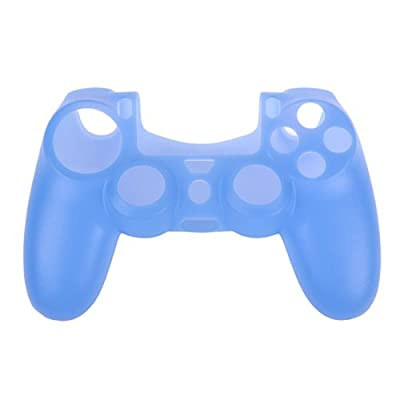 OSTENT Protective Silicone Gel Soft Case Cover Pouch Sleeve Compatible for Sony PS4 Controller - Color Light Blue