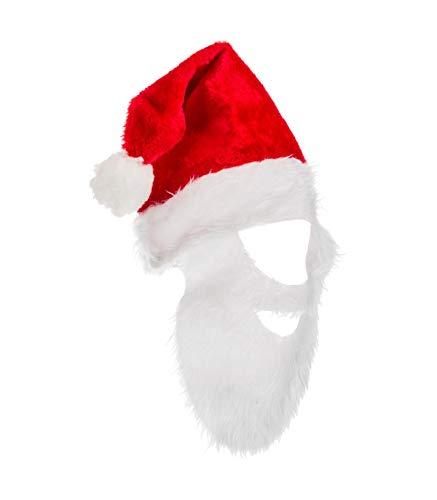 Bonnet du Père Noël avec sa barbe