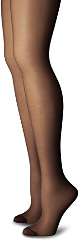 Just My Size Women's Smooth Finish Regular Reinforced Toe Panty Hose Eco, Jet Black, 4X