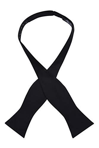100% Formal Silk Self Tie Bow Tie (Black)