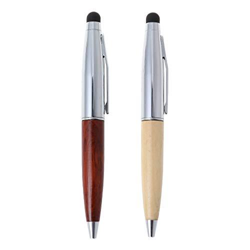 folewr-8/Mini l/ápiz bol/ígrafo pantalla t/áctil color Couleur du bois 0.7/mm con tinta negra para el aprendizaje y escritorio punta media