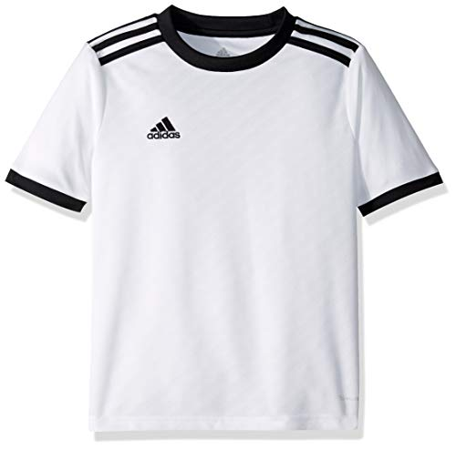 adidas Kids' Tiro Soccer Jersey, White/Black, Small