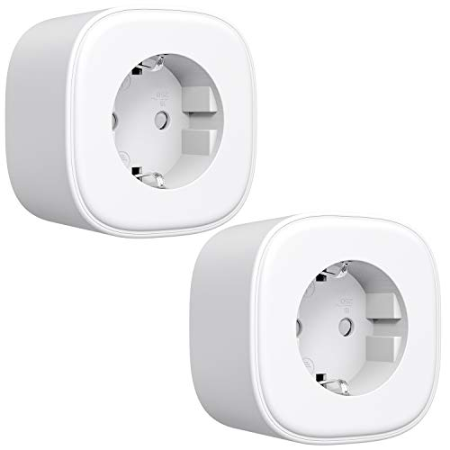 WLAN Steckdose Refoss Smart Plug, Fernbedienbar WiFi Stecker, kompatibel mit Alexa, Google Assistant, Sprachsteuerung und Zeitplan, 2,4GHz, 17A, 2 Stücke