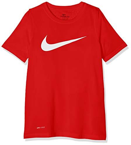 Nike Boy's Dri Fit Swoosh T Shirt University Red/White Size Medium