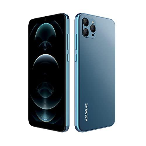 4G Moviles Libres Baratos, Pantalla 6,3 Pulgadas, 32GB 64GB ROM, 3GB RAM, Android 9.0 Smartphone Libre, 4600mAh Batería, Smartphone Barato Dual SIM, 8MP Face ID Moviles Baratos y Buenos (Azul)