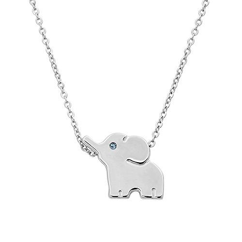18 K vergoldet Edelstahl Elefant Tier Glück Elefant Halskette Schmuck Geschenk
