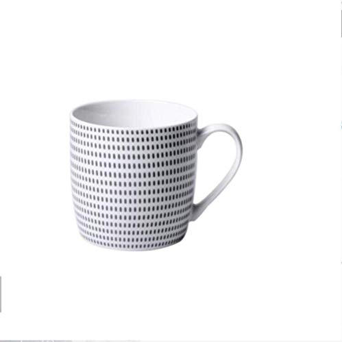 LHQ-HQ Ceramic Cup Ceramic Coffee Cups With Lid With Spoon Large Capacity Tea Cup Drinking Cup Breakfast Heat Travel Utensils