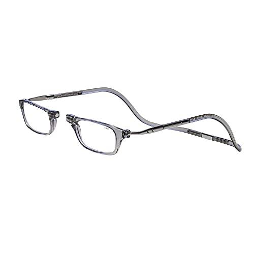 Clic XXL Magnetic Reading Glasses in smoke, +1.75
