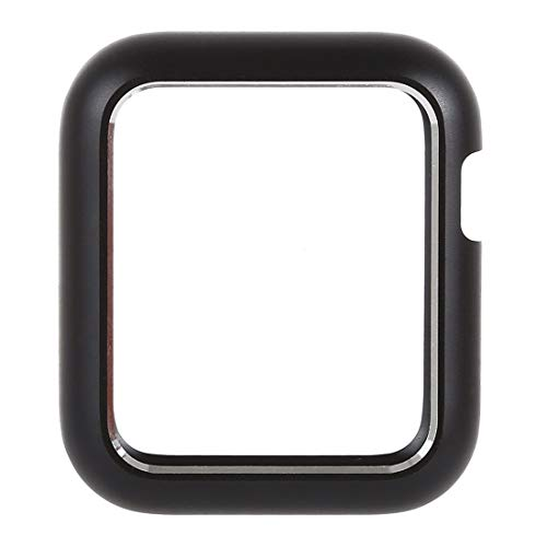 Yangeryang Caja de Reloj de Reloj Inteligente Funda para Reloj para Apple Watch Series 3 y 2, Shell Protector de Marco de Metal magnético 42mm (Color : Black)