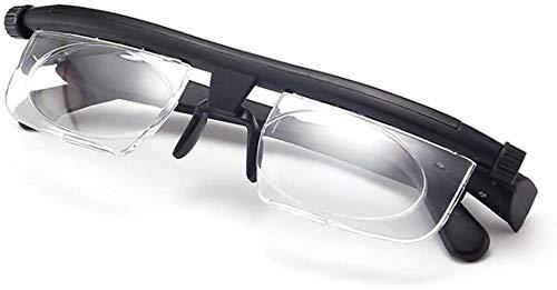 ZJXAM Verstellbare Brille Mit Variablem Fokus, Verstellbare Lesebrille Dial Vision Wie Im Fernsehen Zu Sehen, Myopia-Lesebrille Mit Verstellbaren Armen, Zum Lesen Von Distanzbrillen (2pcs)