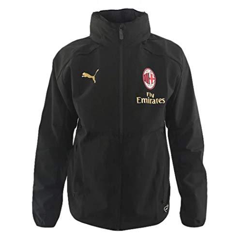Puma AC Milan Giacca A Vento Hooded Rain Top 2018/19 - Colore - Nero, Misure - S