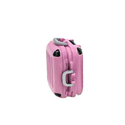 Ruby569y Accesorios para casa de muñecas, maletas en miniatura, multiuso, hecho a mano, aleación en miniatura, para el hogar, color rosa