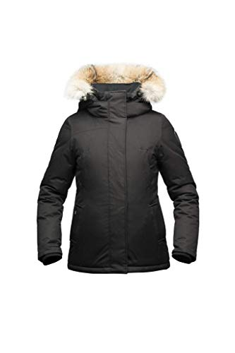 Nobis Lindsay Ladies Hip Lengh Parka Crosshatch Black-M