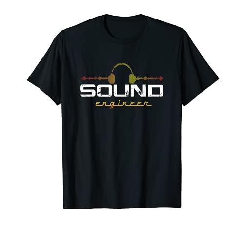 Audio Engineer Music Production Sound Engineer Disc Jockey T-Shirt