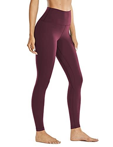CRZ YOGA Women Brushed Naked Feeling II High Waist Workout Yoga Leggings - 71cm Adobe Scuro - 71cm 38