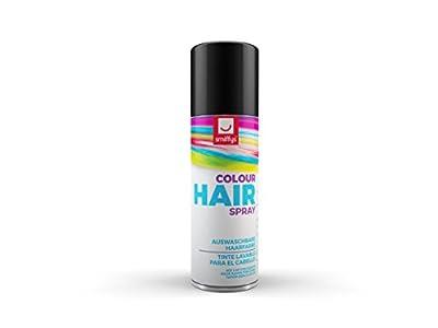 Smiffy's-Spray de Color para Pelo, Negro, 125ml, BK (052BK)