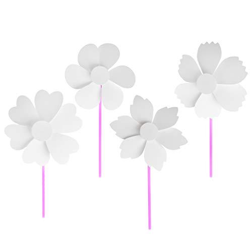 Liufang 1 / 4pcs Blank Weißes Papier Windmühle DIY Zeichenmaterial Kid Lernspielzeug Geschenk