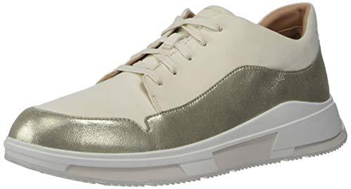 Fitflop Damen Freya Suede Sneakers Turnschuh, Stone, 39 EU