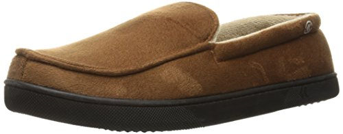 isotoner Men's Moccasin Gel Infused Memory Foam, Cognac, Medium/8-9 M US