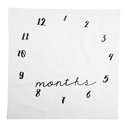 Manta de crecimiento mensual Fondo de fotografía de recién nacido suave para un regalo de bebé(clock)