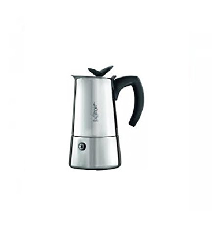 Bialetti Musa Satinata - Cafetera espresso para 6 tazas (acero inoxidable, 30 x 20 x 15 cm)