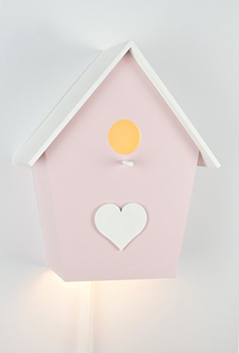 Kinderlampe Kinderleuchte Wandlampe Vogelhauslampe Handbemalt Handgefertigt