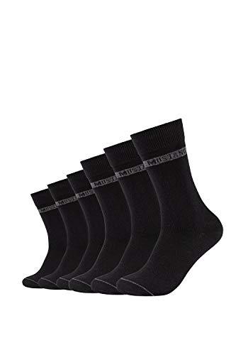 MUSTANG Herren Socken 6er Pack aus hochwertiger Bio-Baumwolle black, 47-49