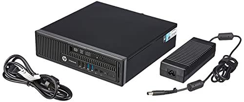 HP EliteDesk 800 G1 USDT Intel Core i5 256GB SSD Festplatte 8GB Speicher Win 10 Pro DVD Brenner C8N28AV Ultra Slim PC Mini Computer (Generalüberholt)
