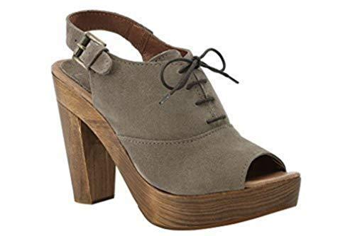 Best Connections sandalen van suède van BC - kleur taupe maat 35