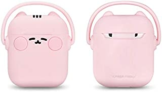 MeterMall Cute Cartoon Wireless Bluetooth Earphone Case for Apple AirPods Silicone Charging Headphones Cases for Airpods Protective Cover Pink AirPods universal