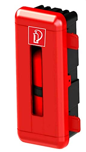 Feuerlöscher Box Schutzkasten für 5kg CO2 Feuerlöscher rot-schwarz H/B/T 865 x 335 x 240 mm außen